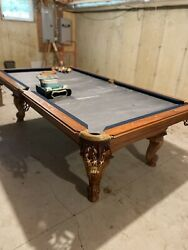 """Antique Style Regulation 4' X 8' - 1"""" Slate Pool Table"""