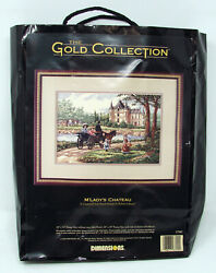 New Vintage Dimensions Gold Collection Mand039ladyand039s Chateau Cross-stitch Kit 3790