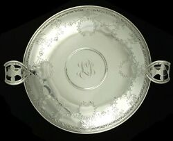 Antique Barbour Sterling Silver 2 Handle Compote Tazza Pedestal Bowl/dish 9 3/4