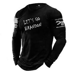 Letand039s Go Brandon Enlisted Ranks Graphic T-shirt Not Grunt Style