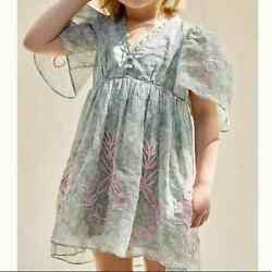 New Anthropologie X Forever That Girl Trellis Embroidered Dress Girland039s Size 5/6