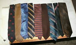 Lot Of 10 Older Ties See The List 7 No Reserve