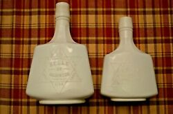 Two Sizes Milk Glass Belle Of Anderson Sour Mash Whiskey Bottles
