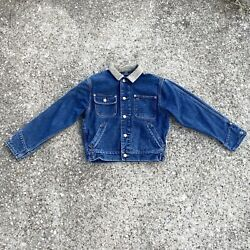 Vintage Polo Dungarees Denim Trucker Jacket Country Western Sz S