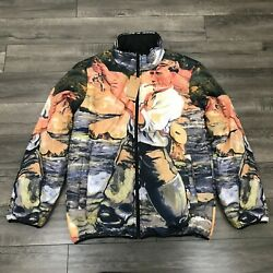 40s And Shorties Smoking Fly Fishing Graphic Reversible Jacket Large Rare New