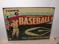Topps`baseball Cards Full Color Picture Cards`man Cave,metal Sign`new-free To Us