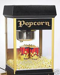 New Fun Pop 8 Oz. Black And Gold Popcorn Popper By Gold Medal