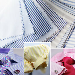 3 X Custom Made To Measure Long And Short Sleeve Business Work Formal Dress Shirts