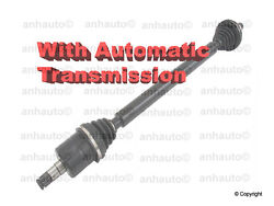 New Front Right Cv Axle. Golf Jetta 2.5 With Automatic Transmission