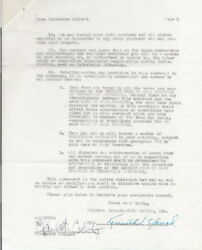 Claudette Colbert Signed Jack Benny Tv Contract