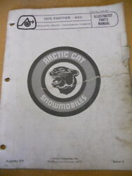 Arctic Cat Illustrated Parts Manual 1975 Panther