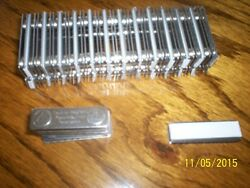 25 All Steel, Magnet, Magnetic Fasteners, Name Badges, Pins, Tags