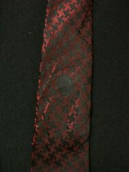 Vintage 1950's-1960's All Silk Stoll's Label Red And Black Tie