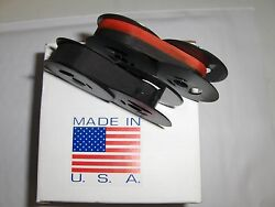 Smith Corona Clipper Typewriter Ribbon 2 Pack - 1 Solid Black + 1 Black/ Red