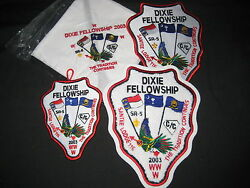 2003 Dixie Fellowship Patch And Neckerchief Lot