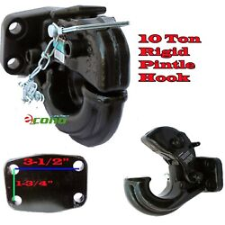 Rigid Mount Pintle Hook Type 10 Ton 20,000 Lbs Towing Truck Trailer Hitch Tow