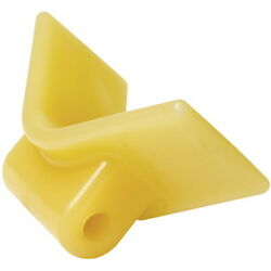 3 Inch Mounting Width Boat Trailer Non Marking Yellow Molded Rubber V Bow Stop