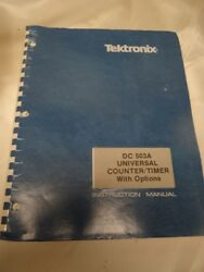 Tektronix Dc503a Universal Counter/timer With Options Instruction Manual