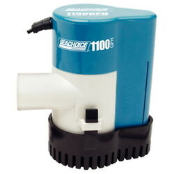 1,100 Gph Electric Submersible Automatic Bilge Pump For Boats 1-1/8 Inch Outlet
