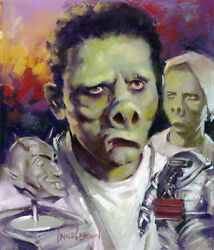 HARLEY BROWN original Published Art TWILIGHT ZONE Filmfax cover #119 2008