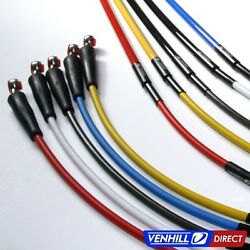 Kawasaki Kx125 Front + Rear Braided Stainless Ss Brake Lines By Venhill
