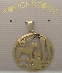 Parson Russell Terrier Jewelry Gold Pendant by Touchstone