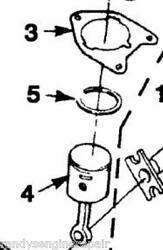 Homelite Up03037a Piston And Rod Kit Assy W/gasket 900953001 Trimmer