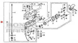 41005-zw6-c10za Honda Marine Long Shaft Lower Unit Assembly For Bf2d And Bf2.3d