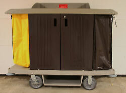 Full Size Rubermaid Cleaning / Housekeeping Cart With Doors