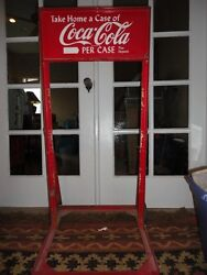 Vintage Antique Coca Cola Store Display Stand Hand Truck Dolly