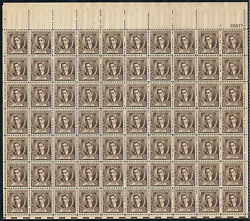883 Sheet Of 70 1940 10c Nevin Famous American Composers Issue-mint/og/nh
