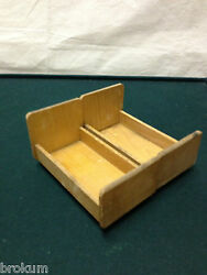 Dollhouse Miniature Pair Of Beds Natural Wood Antique Furniture Germany