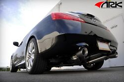 07-15 Ark Grip True Dual Exhaust System W/ Polished For Infiniti G37 Coupe Rwd