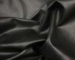 Vinyl Faux Leather Black Ford Upholstery Fabric by the yard 54quot; wide ROLLED