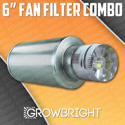6 X 18 Carbon Air Filter Pro Combo Six Inch Duct Fan Inline Exhaust Hydroponic