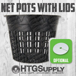 Net Pot 2 3 4 5 6 Inch With Lids Mesh Hydroponic Aeroponic Round 10 50 Pack Pk