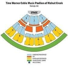 Awesome Kenny Chesney 3 Tickets Time Warner Pavilion Raleigh Nc 5/23/2013
