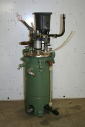 Metering Pump And 2.5 Gallon Day Tank Jacketed Unused Polyurethane Mixing