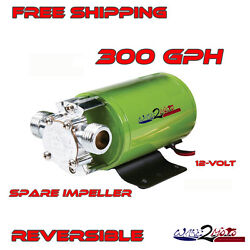 Ballast Bag Reversible Water Pump 300gph Wakeboard Boat Fly High Straight Line