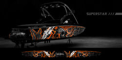 Boat Wraps Graphics Decals Kit Wrap Boat Graphic Kits Design 36 X 20 To 25and039