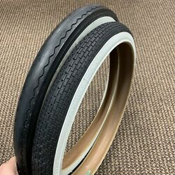 Bicycle Tires Slick And Front White Walls For Huffy Sears Murray Amf Muscle Bikes