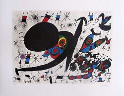 Joan Miro Homage To Joan Prats Signed Limited Edition Lithograph Art