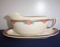 Pattern Majorca By Mikasa China Cb006 Gravy Boat And Underplate Potters Touch