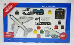 Siku Super 6312 Aircraft Catering Vehicle Airport Tractor Luggage Trailer Set
