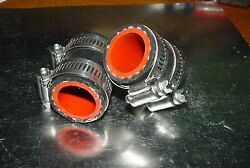 Yamaha Banshee Rubber Exhaust Pipe Clamps All Years Fmf,dg, Factory Black/red