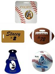 Personalized Bag Tag with your Custom Design Logo Text or Graphic $10.00