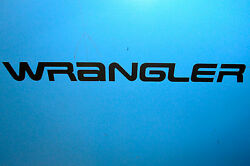 Nos Jeep Wrangler Logo Decal- Dark Silver Sold In Quantities Of 2