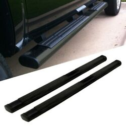 Black Abs Plastic Molded Straight 6 Wide Step Running Board For 07-14 Gmc Yukon