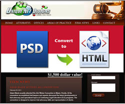 Photoshop Psd To Html Website Design Psd To Html Css