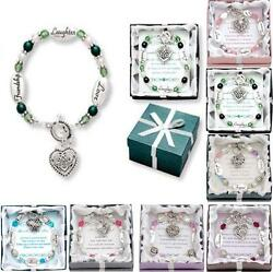 Expressively Yours Bracelets - Crystal & Silver - w Verse Card & Gift Box $12.99